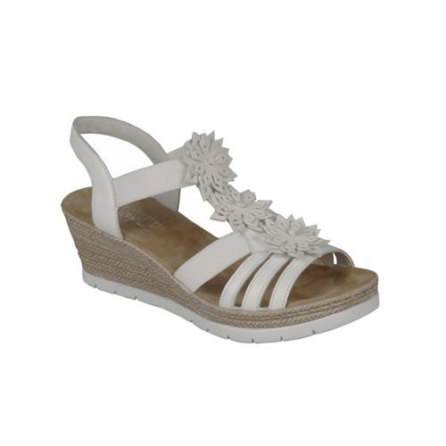 Rieker sandalett vit