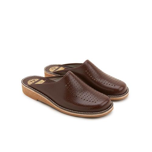 Docksta Slippers Brunt skinn